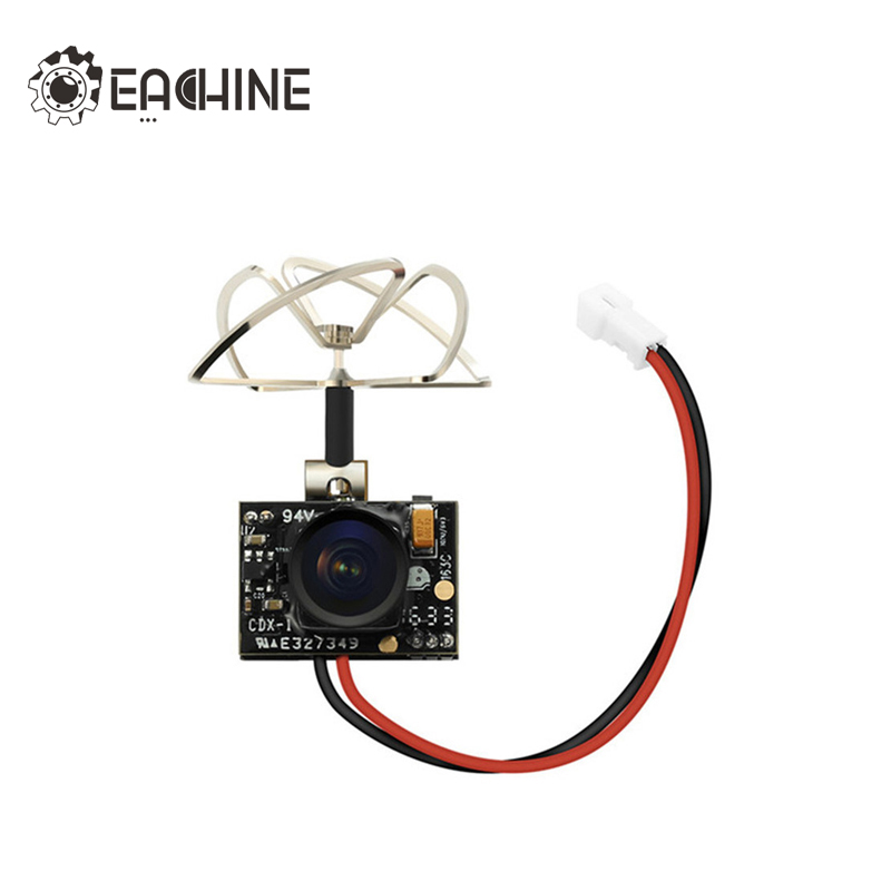 Nueva llegada Eachine TX02 Super Mini AIO 5,8g 40CH 200 MW VTX 600TVL 1/4 Cmos FPV cámara para FPV multicopter