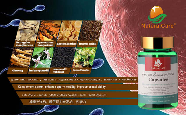 NaturalCure Sperm Regeneration Cap-sules, Increase Sperm Count and Quality,  Cure Male Infertility, Cure Sperm Death Disease