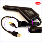 20V 3.25A Laptop Car DC Adapter Charger +USB for Lenovo Helix L440 T431s T450 T450s T550 W550s,Yoga 2 22 11 11s 11e 13 Pro 260