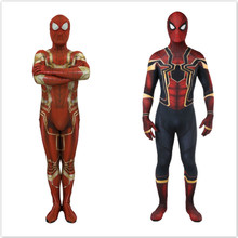 Spiderman Homecoming Cosplay Costume Zentai Iron Spider Man Superhero Bodysuit Suit Jumpsuits costume