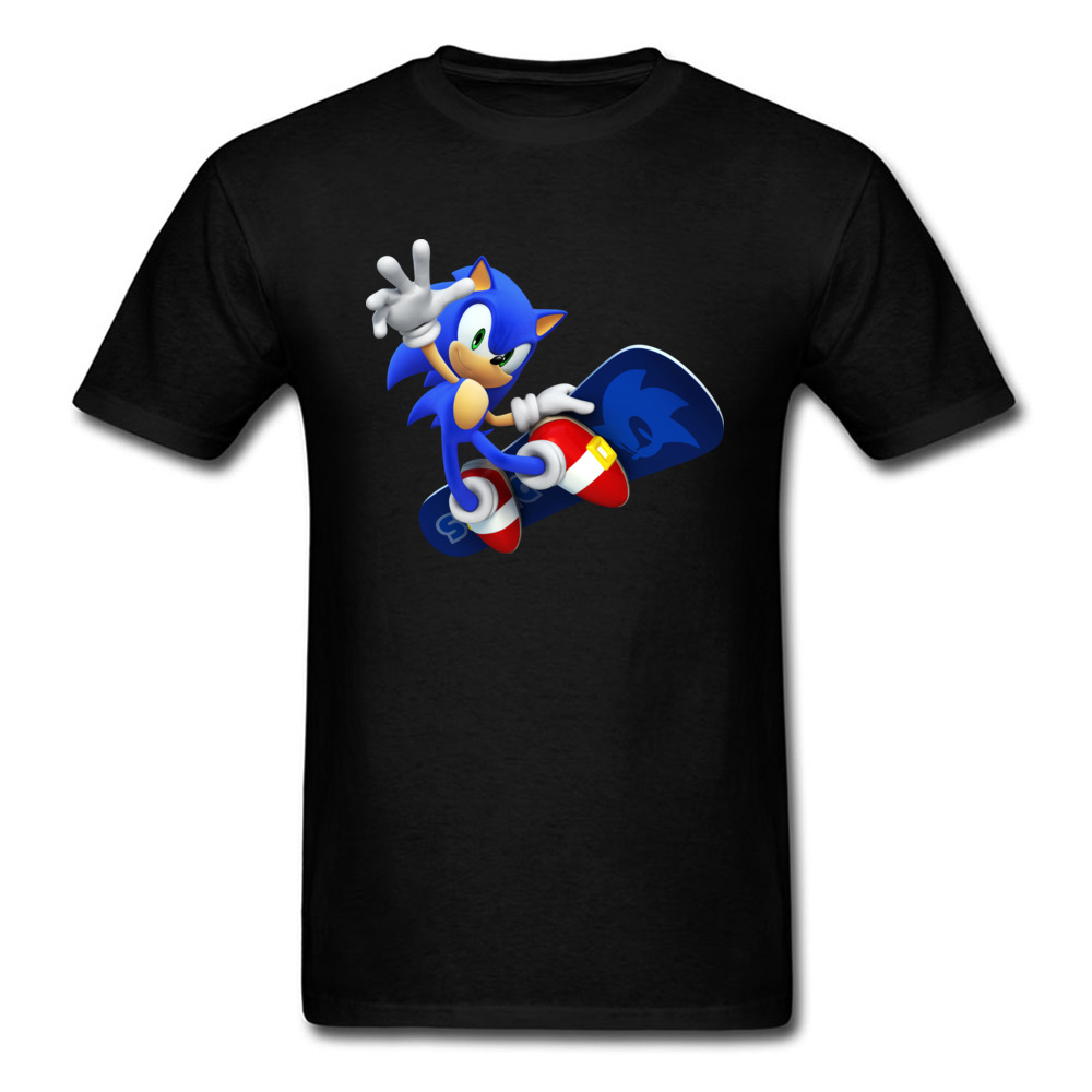 COOL Summer T-shirt 3D Sonic The Hedgehog 2018 Mens T Shirts Skateboard Game Tops Graphic Tee Shirt For Men Anime Printed Grey