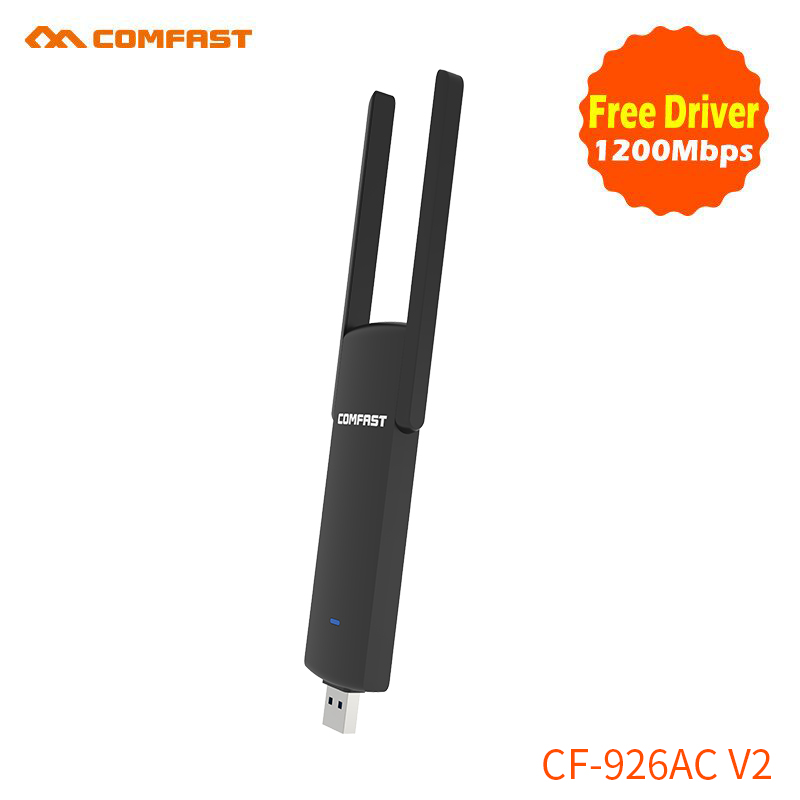 6pcs free driver 1200M 802.11ac usb3.0 wifi adapter COMFAST  ac wireless computer network card plug and play support windows XP
