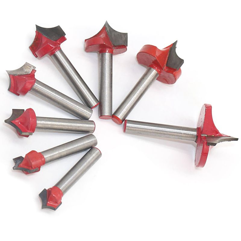 Milling Cutter Tool 6 Handle Double-Edged Cutting Design Engraving End Woodwork Round Shank Tip Mouth Mill
