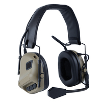 Tactical Headset with PTT Shooting Earmuff Outdoor Sports Protective Headset Military Headsets