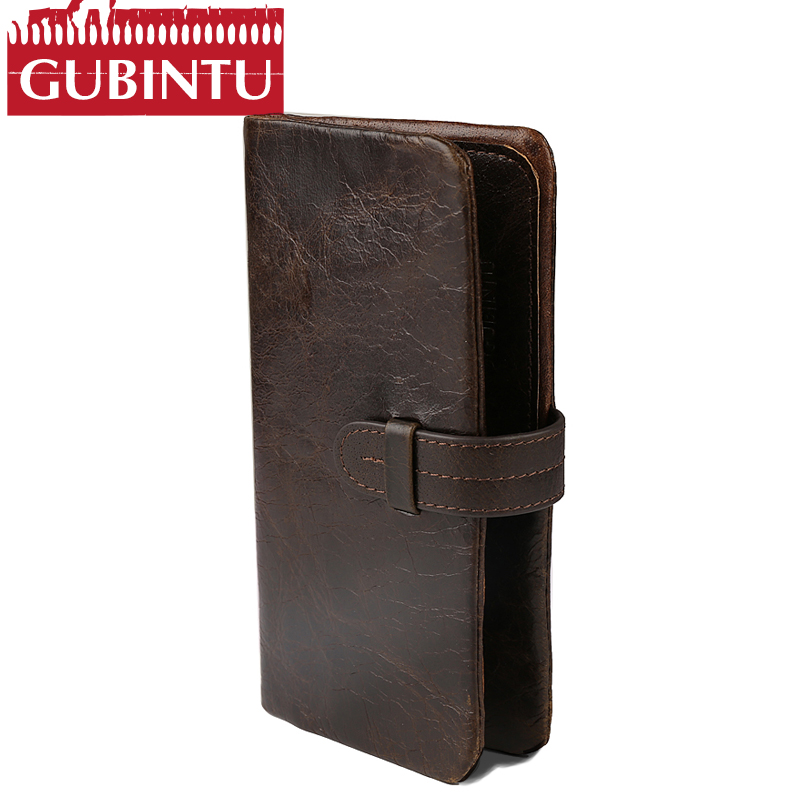 New Luxury Brand 100% Top Genuine Cowhide Leather High Quality Men Long Wallet Coin Purse Vintage Designer Male Carteira Wallets new vintage luxury brand design 100