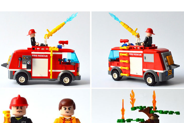 Models building toy 9212 City Fire Fight Water Spray Fire