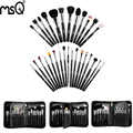 MSQ Hot Professional 29pcs/set Makeup Brush Set High Quality Animal Hair Pincel Maquiagem With PU Leather Makeup Case