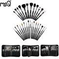 MSQ Professional 29pcs/set Makeup Brush Set High Quality Animal Hair Pincel Maquiagem With PU Leather Makeup Case