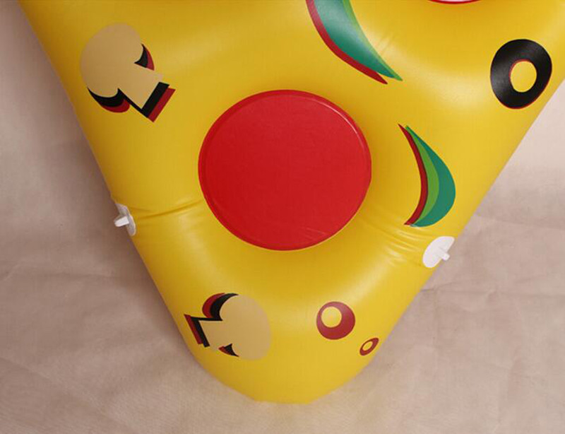 180150cm Yellow Giant Slice Pizza Inflatable Bed Floating for Pool Fun Balsa Air Mattress Water Toys for Summer Holidays (4)