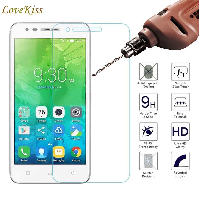 "For Lenovo Vibe C2 k10a40 Case 2.5D 9H Premium 5.0"" Screen Protector Tempered Glass For Lenovo C2 Power K10A40 Protective Film"