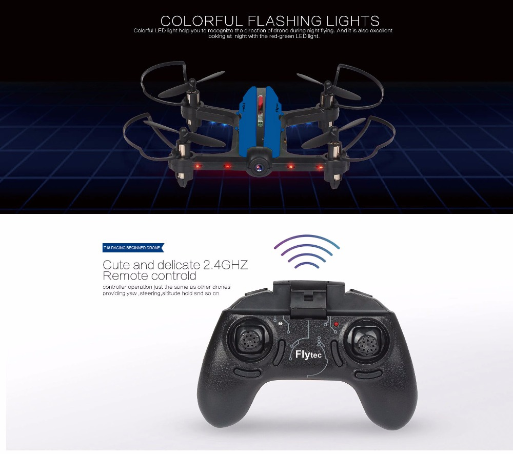 T18 WIFI FPV MINI RACING BEGINNER RC DRONE RTF-3
