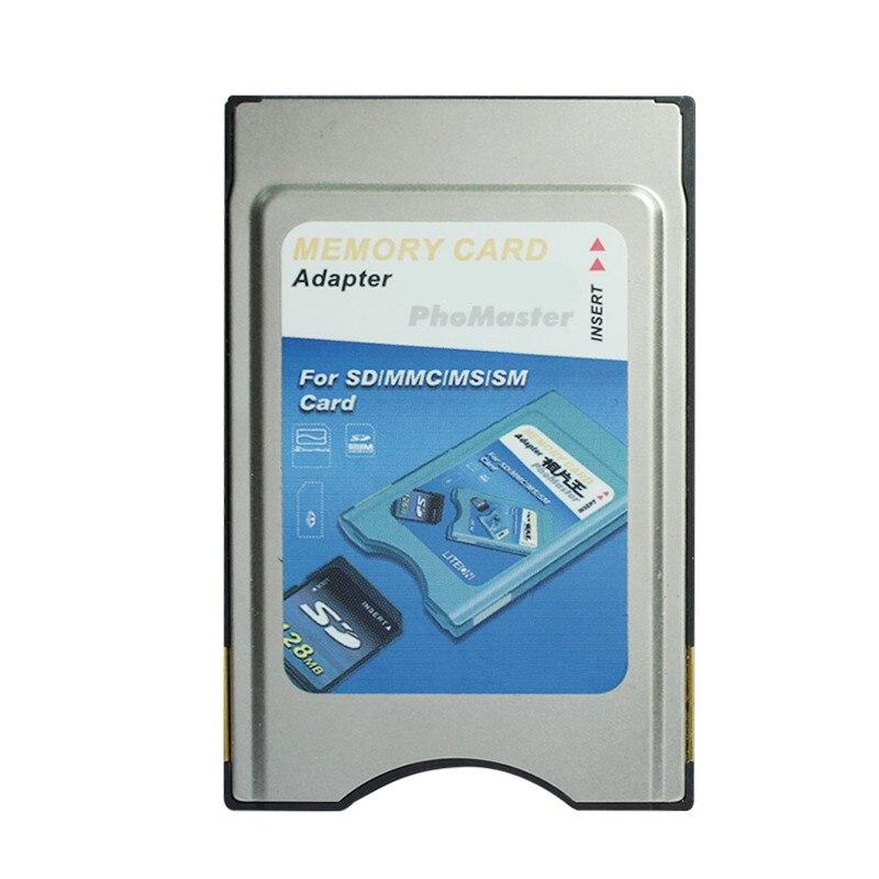 Adaptador de cartão de memória multifunction pcmcia para mmc sd sdhc ms pro sm cartão