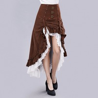 Gear Duke Women Novelty Steampunk Gorgeous Fashion Victorian Ruffled Long Skirt Women's Vintage High Waist Skirt