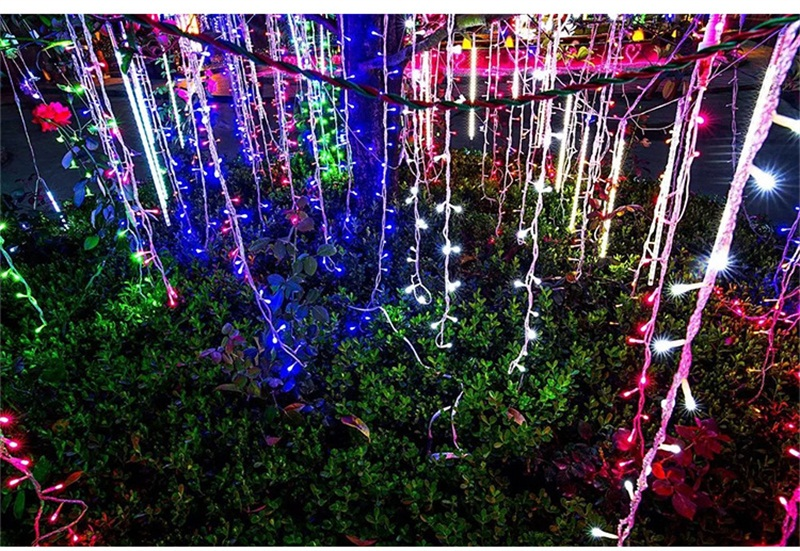 casamento jardim festa cortina led decoração guirlandas