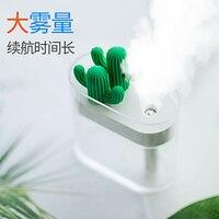 Cactus umidificador mini usb casa portátil carro uso ar condicionado quarto hidratação de ar pequena névoa descarga