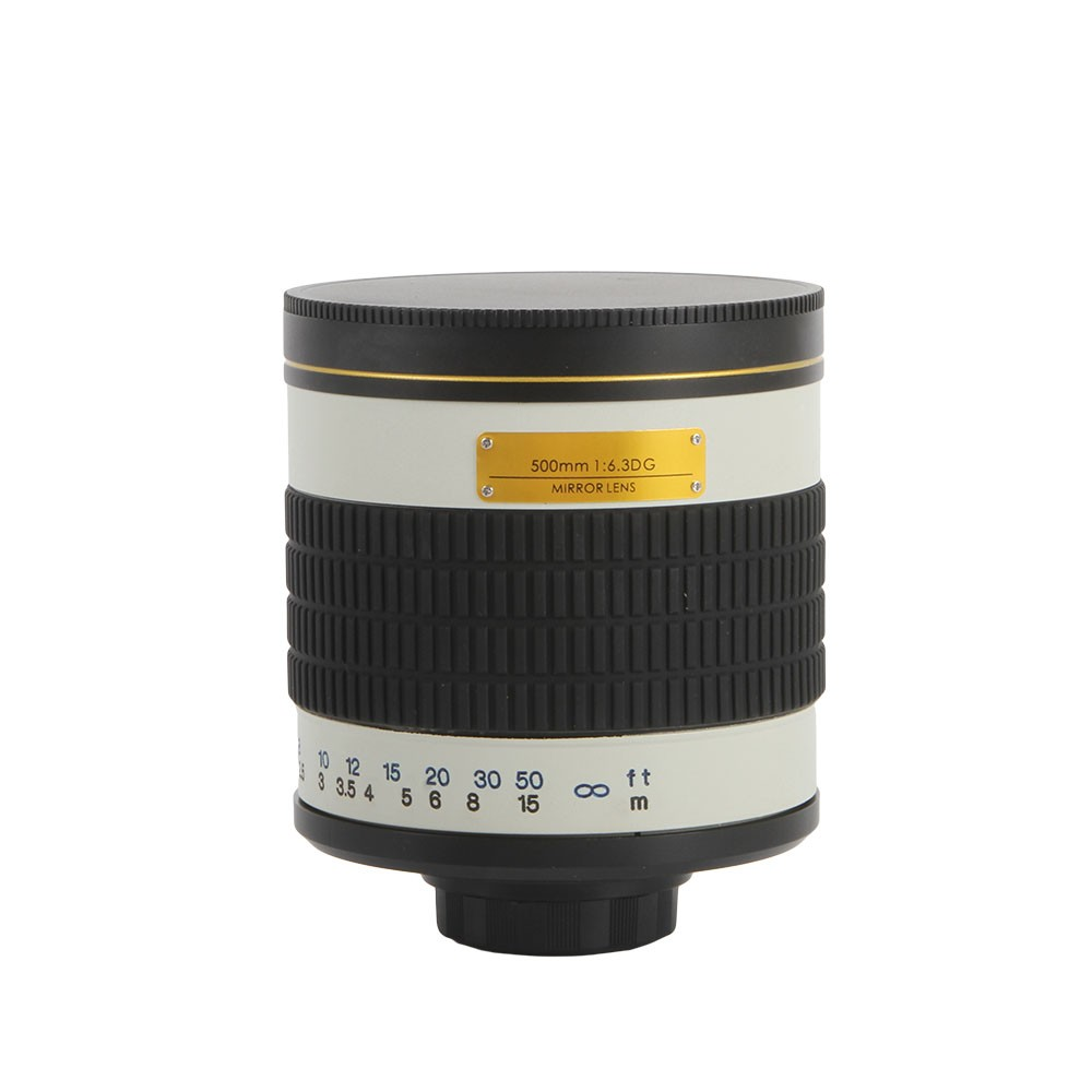 500mm F/6.3 Telephoto Mirror Lens + T2 Mount Adapter Ring for Canon Nikon Pentax Sony Olympus DSLR 2