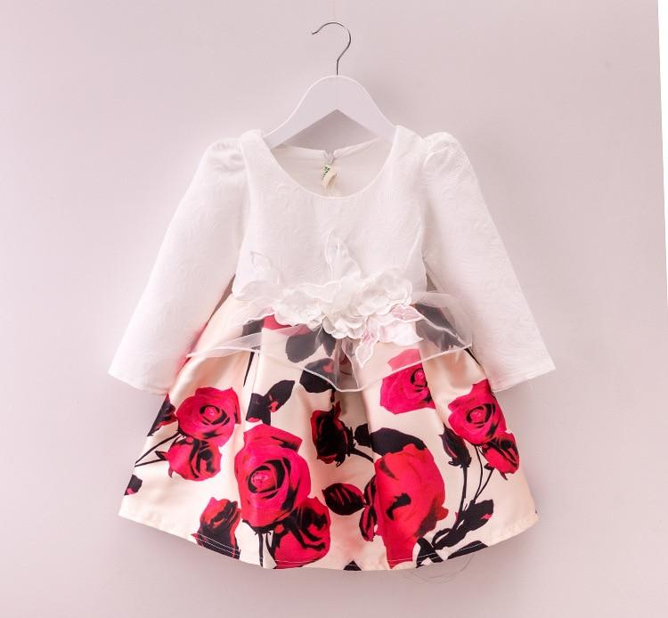 Doprava zdarma 2015 Baby Girls Princess Šaty Módní Podzimní - Dětské oblečení - Fotografie 1