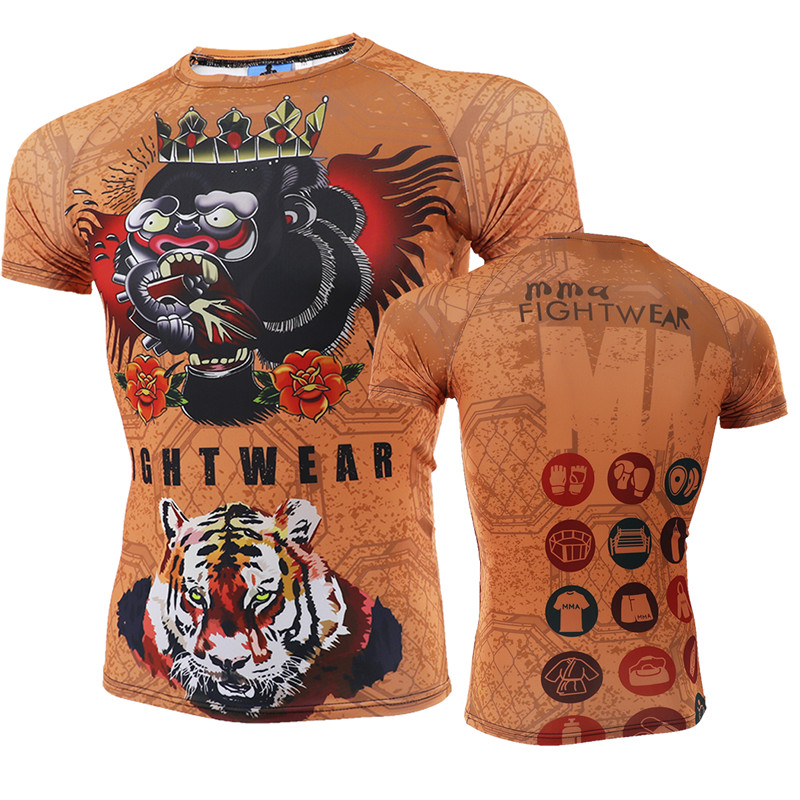 MMA Fitness Tattoo Monkey Pattern Thai Boxing Sports Sweater Tiger Boxing Jerseys Tiger Muay Thai Jerseys