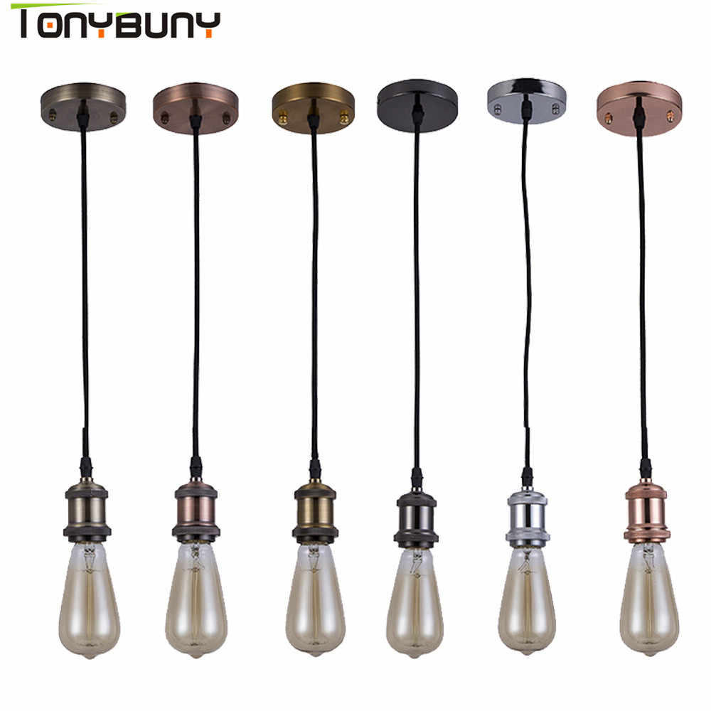 Cord pendant CreativePendant Lamp Modern Vintage Bar Restaurant Bedrooms Hanging Lamp Large Shopping E27 Pendant Light