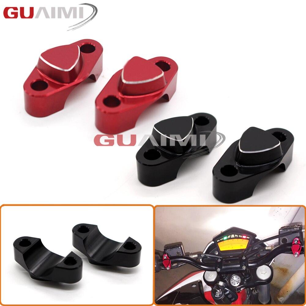 Für Ducati Monster 696 2008-2014 MONSTER 695 2013-2014 MONSTER 697 2010-2014 CNC Billet Aluminium lenker Clamp Abdeckung