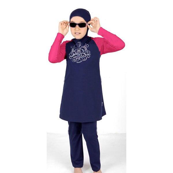 Qualité maios grande taille couverture complète maillot de bain islamique hijab maillot de bain pour enfants islamique enfants maillots de bain arabe maillots de sport