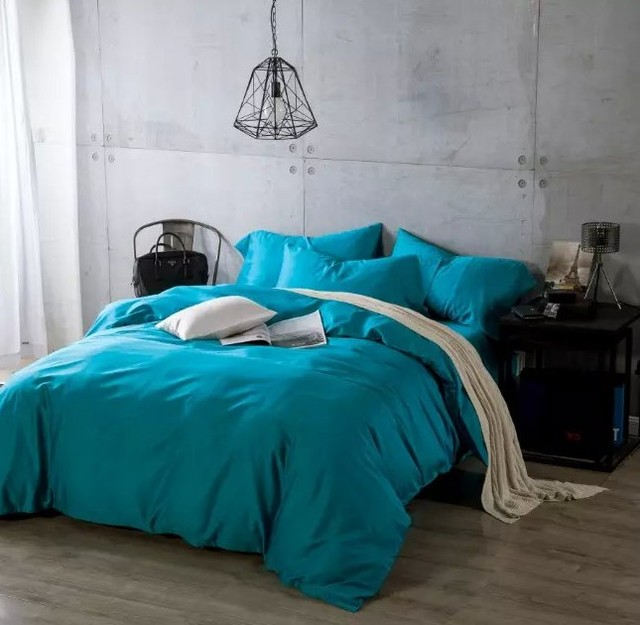 Egyptian Cotton Sheets Bedding Sets Blue Green Bedspreads King Size