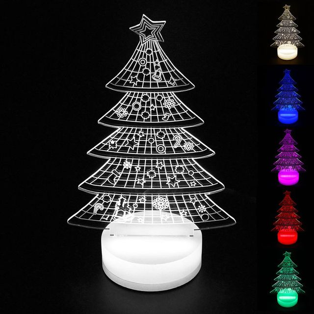 christmas tree lights indoor 3d led lamp acrylic table lamp usb night light led christmas christmas