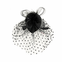 1 Pcs High Quality Elegant Lady Feather Hat Hairpins Mesh Veil Headband Hair Accessories Romantic An