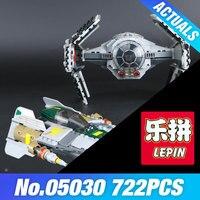 LEPIN 05030 722Pcs Star Series Wars Toy Tie Advanced VS A Set Wing Starfighter Building Blocks