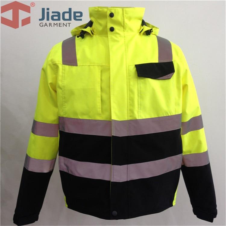 Jiade Men's Work Wear Winter Jacket Reflective Winter Jacket High Visibility WinterJacket EN471/ANSIWinter Jacket free shipping цена