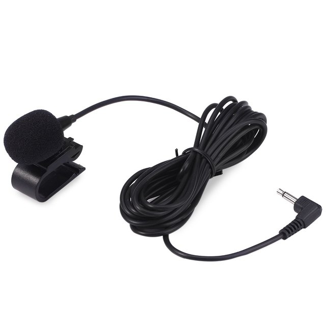3.5mm External Microphone Mic for Car DVD Radio Laptop Stereo Player HeadUnit Cable 3m with U Shape Fixing Clip