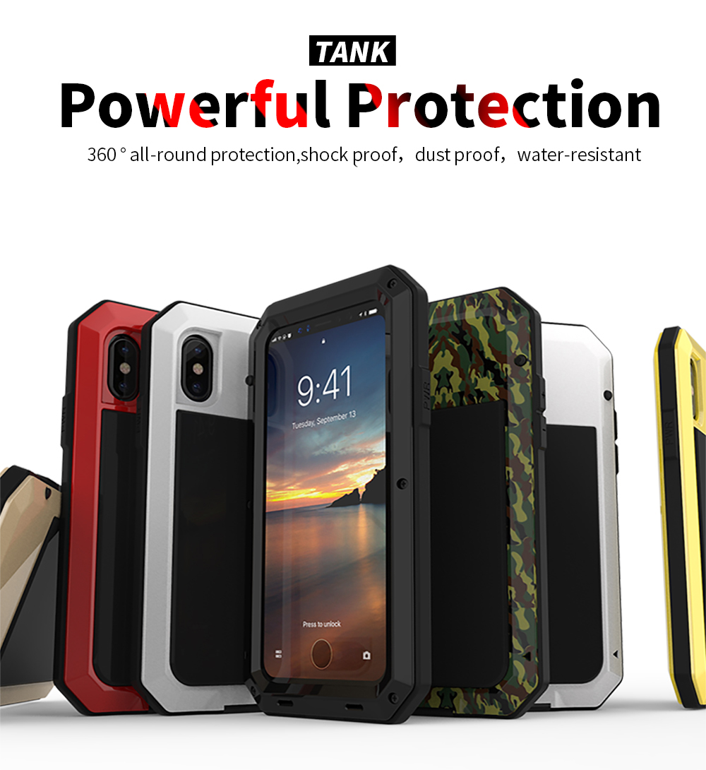 For iPhone X Tactical Waterproof Case (6)