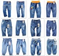 Wholesale Boys Girls Jeans Pants TOP QUALITY 2-8years Baby Girls Jean 6pcs/lot Free shipping