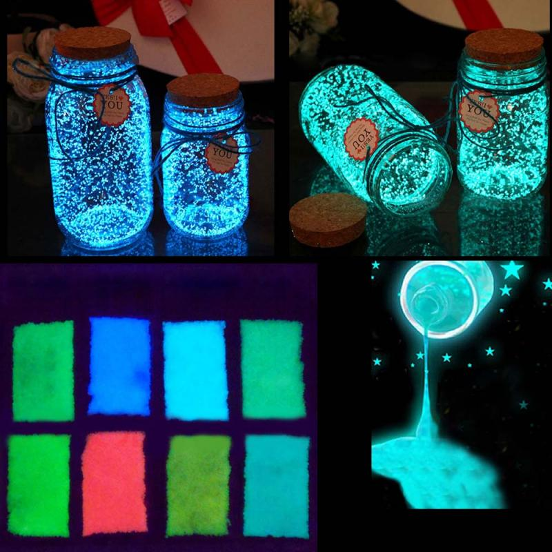 10g Luminous Party DIY Bright Glow In The Dark Paint Star Wishing Bottle Fluorescent Particles