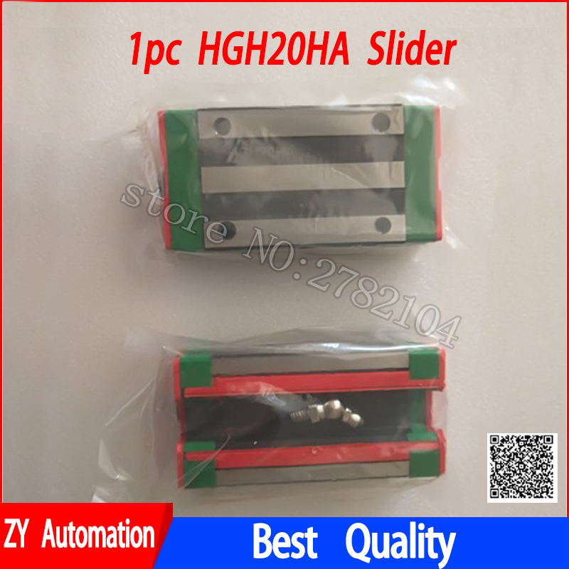 HGH20HA lengthen slider block HGW20HC match use HGR20 linear guide for linear rail CNC diy parts HGH20 HA HGW20HA HGW20 large format printer spare parts wit color mutoh lecai locor xenons block slider qeh20ca linear guide slider 1pc