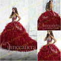 2017 Novos Vestidos Quinceanera vestido de Baile Com Sweetheart Organza Beading Off The Shoulder Lace Up Vestido Para 15 Anos