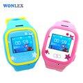 Wonlex 2016 New MTK2503 LBS/GPS/Beidou/WIFI Positioning Children Watch Phone Color Screen Kids GPS Watch SOS Safety Watch