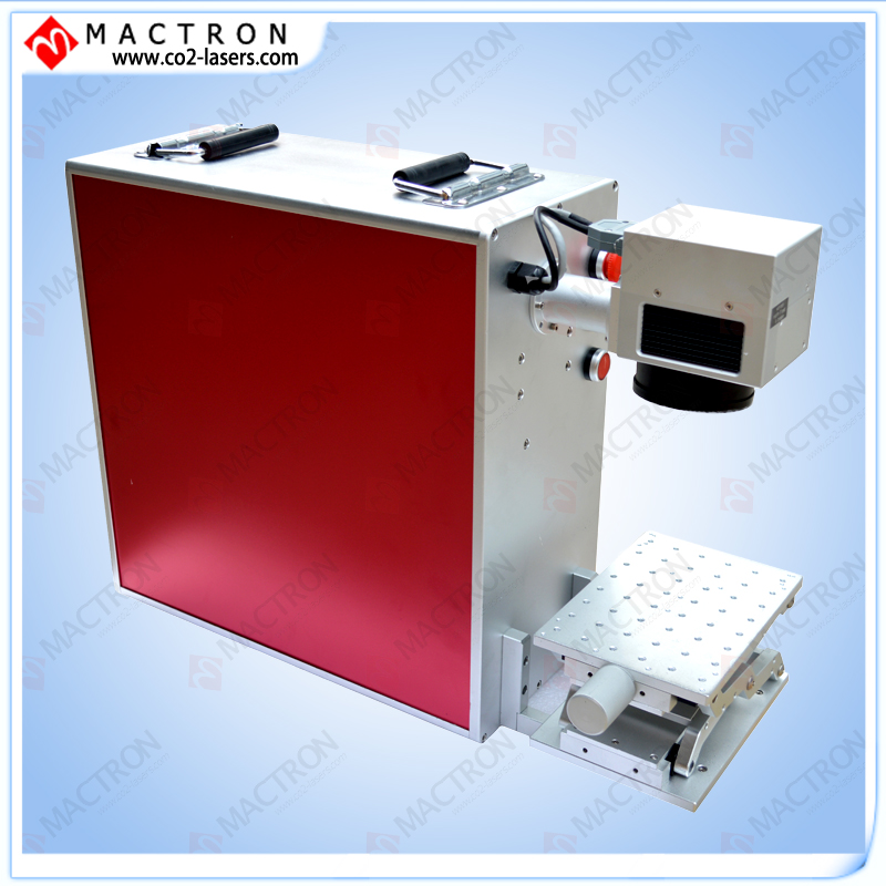 Laser Fiber Markering Machine 20W, Lasergravure Aluminium Mini Fiber Laser Markering Machine voor het markeren van Plastcis-pakket