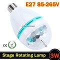 1 шт. 3 Вт RGB LED Мини Свет Партии Dance Party Лампы Праздничные свет Авто стадия Вращающаяся лампа E27 полноцветный Лампа для танцев