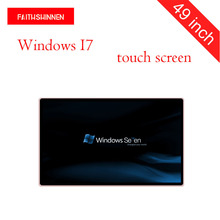цена на 49 inch wall mount touch screen digital signage video advertising display full HD led commercial advertising display Windows I7