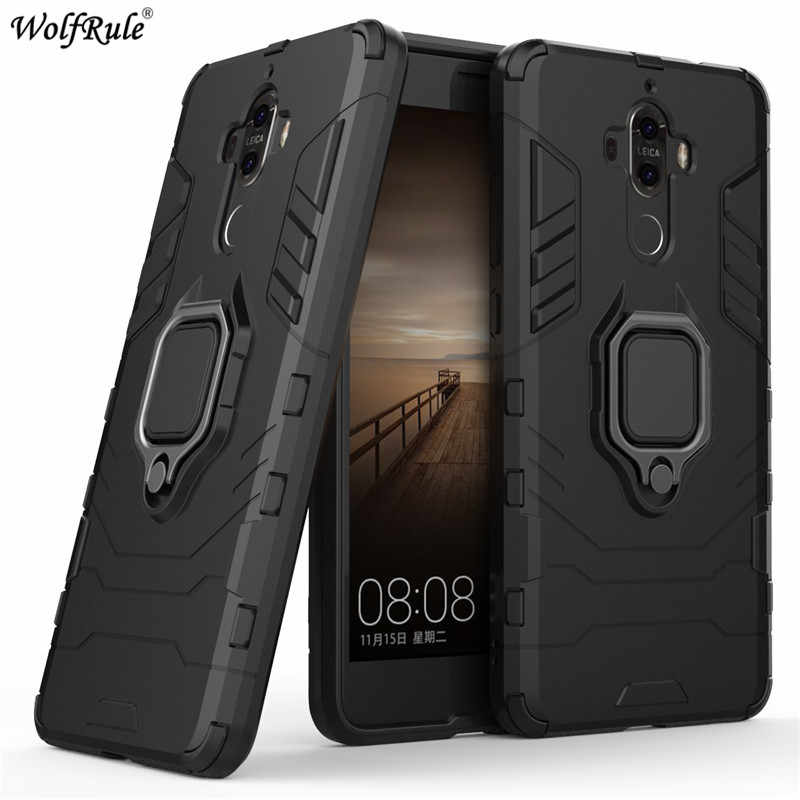 For Huawei Mate 9 Case Mate 30 Pro 20 Lite Ring Holder Armor Bumper Protective Back Phone Case For Huawei Mate 9 Cover Funda