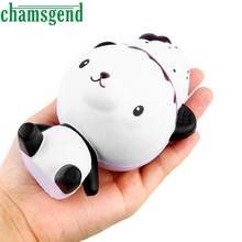 Gifts antistress trick slime toy antistress toy Fun Poop panda Squishy Slow Rising Squeeze Strap toy for kids ov22p30(China)