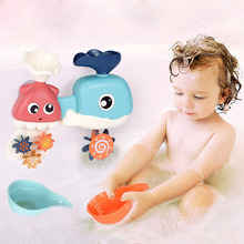 New Cute and Exquisite Baby Funny Water Game Toys Bath Tub Shower Faucet Water Swimming Bath Children Bath Toys