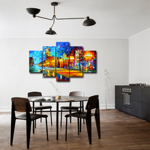Home Decor Canvas Painting 5 Pieces Street HD Prints Wall Art Frame Modular Living Room Abstract Pictures Artwork Poster Abooly