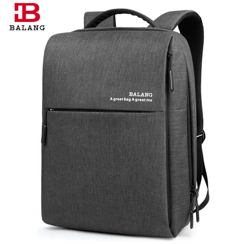 ff03bd5cbaab BALANG бренд 2018 дизайнер Водонепроницаемый Оксфорд Для мужчин Бизнес  рюкзак для 14 дюймов ноутбука ежедневно Школьные