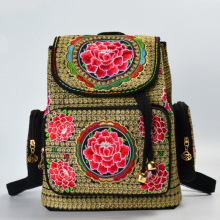 Pockets Fashion Hmong Ethnic Handmade Embroidery Girl Backpacks Cute School Bags New Women Backpack Female Shoulder Bag Mochilas