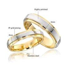 Simples casal titânio aço anéis de casamento das mulheres jóias masculinas aniversário casamento melhor presente da forma personalizado gravura nome