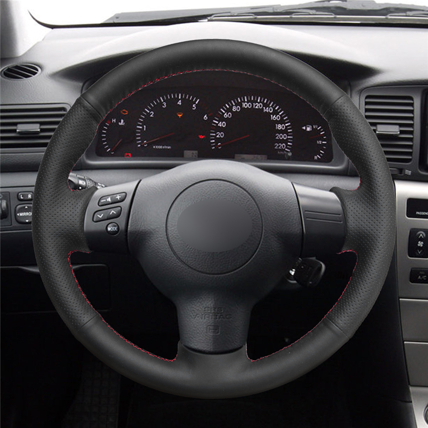 Mewant Black Artificial Leather Car Steering Wheel Cover For Toyota Corolla 2004 2006 Caldina 2002 2007 Rav4 Us 2005 In Covers From