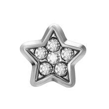 10 шт. белая пятиконечная Звезда Пентаграмма Пользовательские переливающиеся амулеты для стеклянного медальона