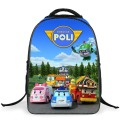 Korea Cartoon Robocar Poli Children School Bags Boys Backpacks 2016 New Kindergarten Kids Schoolbag Girls mochila infantil